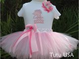 Personalized Birthday Girl Outfits First Birthday Girl Tutu Outfit Personalized Pink Tutu