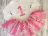 Personalized Birthday Girl Outfits Personalized Baby Girl First Birthday Outfit Pink Birthday