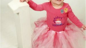 Personalized Birthday Girl Outfits Personalized Girls 1st First Birthday Outfit and Tutu