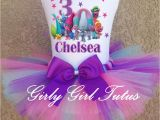 Personalized Birthday Girl Outfits Trolls Birthday Personalized Tutu Outfit T Shirt Set Party