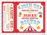 Personalized Birthday Invitations Free Circus Birthday Invitation Printable Custom Invitation with