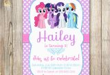 Personalized Birthday Invitations Free My Little Pony Personalized Birthday Invitations