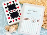 Personalized Birthday Playing Cards Beach themed Playing Cards with Personalized Labels