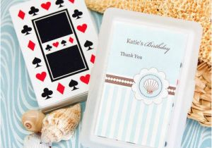 Personalized Birthday Playing Cards Beach Themed With Labels
