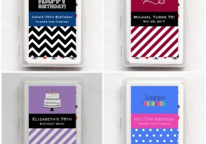 Personalized Birthday Playing Cards Party Favors 75th Ideas