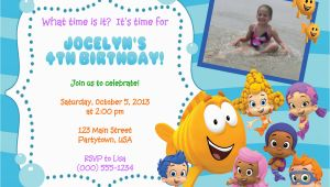 Personalized Bubble Guppies Birthday Invitations Personalized Bubble Guppies Invitations