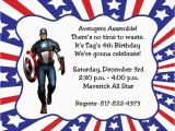 Personalized Captain America Birthday Invitations 10 Captain America Invitations with Envelopes Free Return