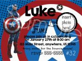 Personalized Captain America Birthday Invitations Captain America 32 Personalized Custom Printable Blue