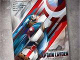 Personalized Captain America Birthday Invitations Captain America 5×7 Birthday Invitation