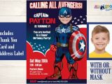 Personalized Captain America Birthday Invitations Captain America Birthday Invitation Captain America is