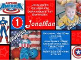 Personalized Captain America Birthday Invitations Captain America Birthday Invitations All Colors