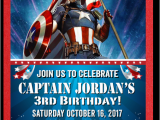 Personalized Captain America Birthday Invitations Captain America Birthday Invitations Di 526fc Harrison