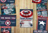 Personalized Captain America Birthday Invitations Captain America Birthday Invitations