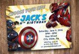 Personalized Captain America Birthday Invitations Captain America Civil War Party Invitation Personalized