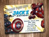 Personalized Captain America Birthday Invitations Captain America Civil War Party Invitation Personalized