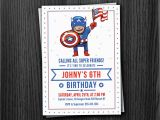 Personalized Captain America Birthday Invitations Captain America Custom Birthday Invitation by Phorestdesign