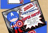 Personalized Captain America Birthday Invitations Captain America Inspired Invitation with by Yourprintableparty