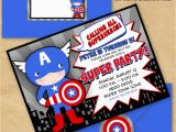 Personalized Captain America Birthday Invitations Captain America Inspired Invitation with by Yourprintableparty