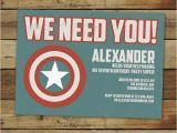 Personalized Captain America Birthday Invitations Custom Captain America Super Hero Birthday Party
