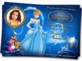 Personalized Cinderella Birthday Invitations Birthday Invitation Card Custom Birthday Party