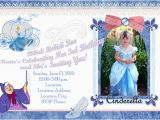 Personalized Cinderella Birthday Invitations Cinderella Birthday Invitations Ideas Bagvania Free