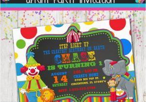 Personalized Circus Birthday Invitations Invitation Carnival