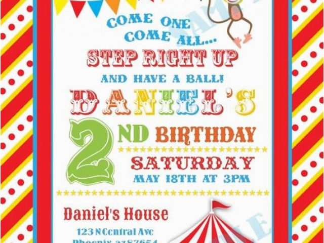 Download By SizeHandphone Tablet Desktop Original Size Back To Personalized Circus Birthday Invitations