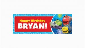 Personalized Happy Birthday Banner Walmart Personalized Chuggington Happy Birthday Banner Walmart Com