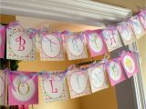 Personalized Happy Birthday Banners Cupcake theme Personalized Happy Birthday Banner Girl