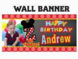 Personalized Happy Birthday Banners Little Mouse Birthday Banner Personalized Happy Birthday