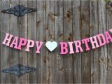 Personalized Happy Birthday Banners Online Happy Birthday Banner Personalized Birthday Banner Pink