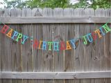 Personalized Happy Birthday Banners Personalized Happy Birthday Banner Made to order