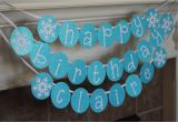 Personalized Happy Birthday Banners Personalized Snowflake Happy Birthday Banner by
