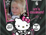 Personalized Hello Kitty Birthday Invitations Hello Kitty Birthday Invitations Custom Photo U Print Ebay