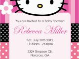 Personalized Hello Kitty Birthday Invitations Hello Kitty Girl Birthday Party or Baby Shower Custom