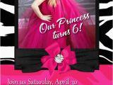 Personalized Hello Kitty Birthday Invitations Personalized Hot Pink Hello Kitty Zebra Birthday