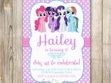 Personalized Invitation Card for Birthday My Little Pony Personalized Birthday Invitations