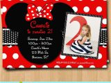 Personalized Invites for Birthday Free Customized Minnie Mouse Birthday Invitations Template