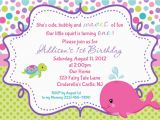 Personalized Invites for Birthday Whale Birthday Invitation Personalized by Afairytalebeginning