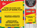 Personalized Lego Birthday Invitations Building Blocks Birthday Invitation Personalized D1
