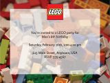 Personalized Lego Birthday Invitations Custom Lego Birthday Party Invitations