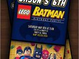 Personalized Lego Birthday Invitations Lego Batman Party Invitation Personalized by Itsyourpartybaby
