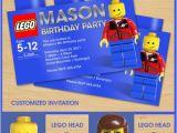 Personalized Lego Birthday Invitations Lego Birthday Invitation Invites Custom