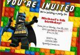 Personalized Lego Birthday Invitations Lego Birthday Invitation Lego Movie Lego Batman by