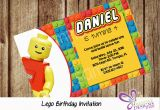 Personalized Lego Birthday Invitations Lego Birthday Invitation Personalized Digital Printable File