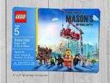 Personalized Lego Birthday Invitations Lego Movie Birthday Invitation Personalized by Blueprintables
