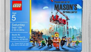 Personalized Lego Birthday Invitations Lego Movie Birthday Invitation Personalized by Blueprintables