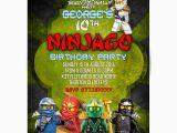 Personalized Lego Birthday Invitations Personalized Lego Ninjago Party Invitations Thank You Cards