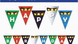 Personalized Lego Happy Birthday Banner Instant Dl Ninjago Happy Birthday Banner Non Persoalized