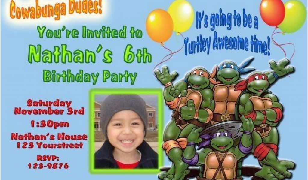 Download By SizeHandphone Tablet Desktop Original Size Back To Personalized Ninja Turtle Birthday Invitations